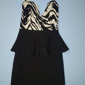 Zebra stripe short fitted dress.